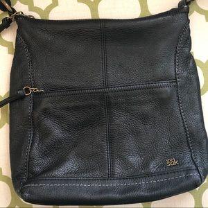 THE SAC black leather crossbody nice lining